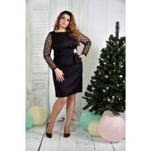 Баклажанное платье 42-74 ККК730-0385-2