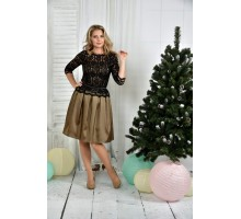Горчичное платье 42-74 размер ККК727-0386-2