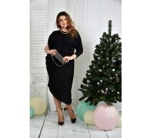 Черное платье 42-74 размер ККК725-0387-1