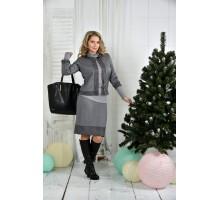 Серый костюм 42-74 размер ККК718-0389-1