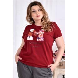Красная футболка ККК2994-0562-2 ЗА 300 грн. ДО 31.08.2017!!!
