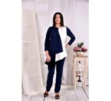 Блузка синяя с белым ККК295-0565-2