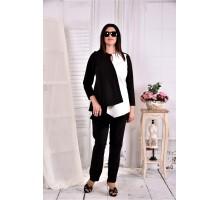 Блузка черно-белая ККК296-0565-1