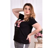 Черная футболка ККК2995-0562-1