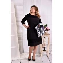 Черное строгое платье ККК261-0577-3-2