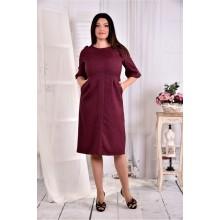Однотонное платье ККК283-0569-2
