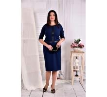 Синее платье ККК285-0568-3