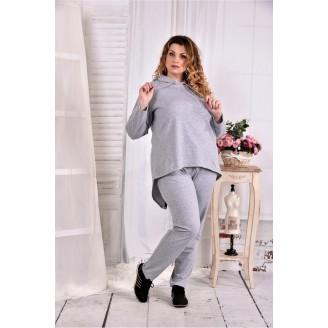 Серый спортивный костюм ККК290-0567-1
