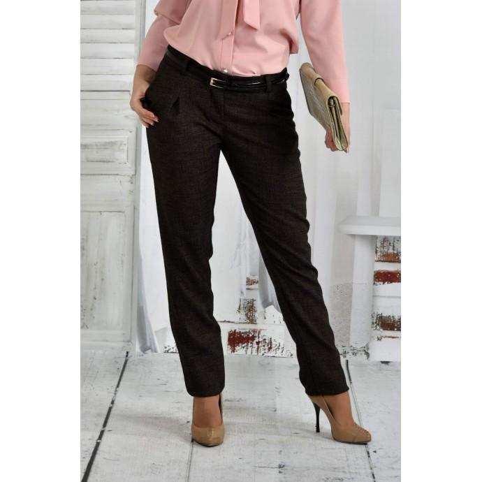 Коричневые брюки 42-74 размер ККК655-021-1