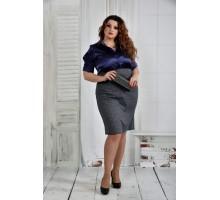 Темно-синее платье снежинка 42-74 размер ККК63-0394-3