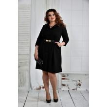 Черное платье + Ремень в комплекте 42-74 размер ККК619-0400-1