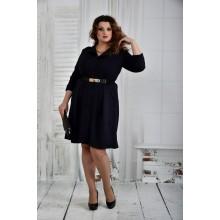Синее платье + ремень в комплекте 42-74 размер ККК620-0400-2