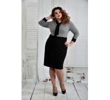 Черное платье 42-74 размер ККК628-0404-2