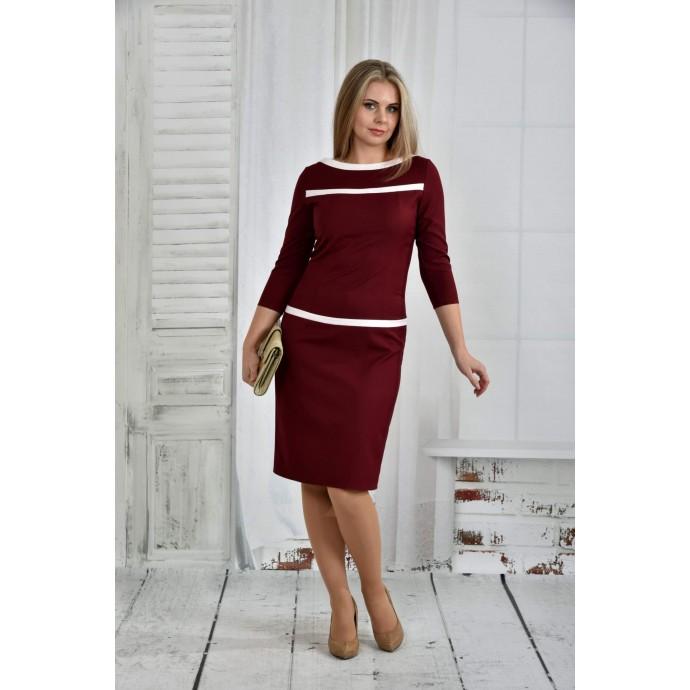 Платье бордо 42-74 размер ККК630-0405-1