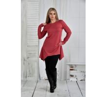 Терракотовая блузка 42-74 размер ККК634-0406-2