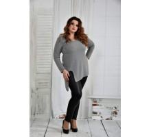 Серая блузка 42-74 размер ККК637-0407-2