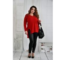 Красная блузка 42-74 размер ККК638-0407-3