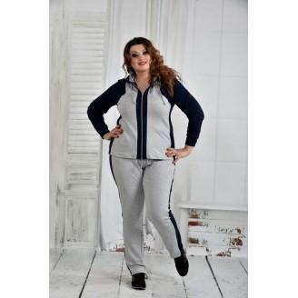 Спортивный костюм с синим 42-74 размер ККК639-0408-1