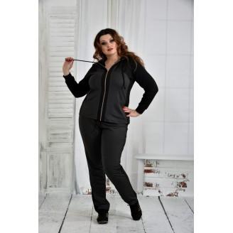 Темно-серый спортивный костюм 42-74 размер ККК641-0408-2