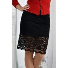 Черная юбка 42-74 размер ККК654-0428