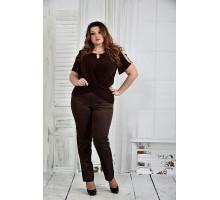 Шоколадная блузка 42-74 размер ККК512-0347-1