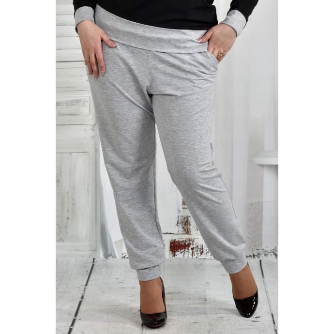 Серые брюки 42-74 размер ККК51-023