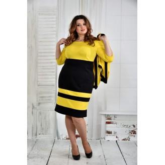 Костюм желтый с черным 42-74 размер ККК510-0435-3