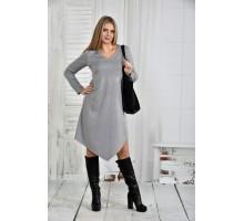 Платье светло-серое 42-74 размер ККК56-0437-1