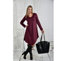 Бордовое платье 42-74 размер ККК54-0437-3