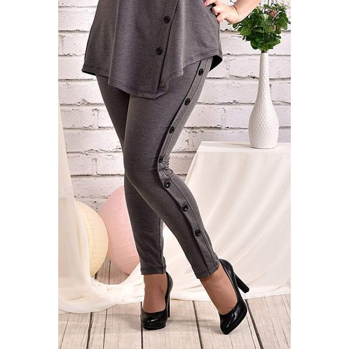 Темно-серые брюки 42-74 размер ККК41-024-2
