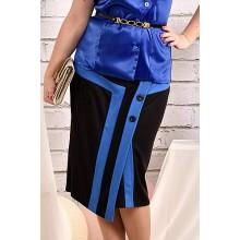 Черная с синим юбка 42-74 размер ККК449-0458-2