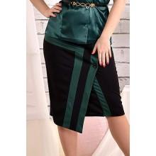 Юбка черная с зеленым 42-74 размер ККК448-0458-3