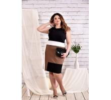 Черное платье 42-74 размер ККК447-0459-1