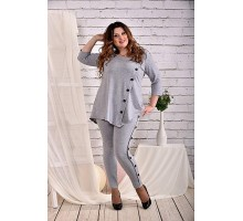 Серая блузка 42-74 размер ККК444-0460-1