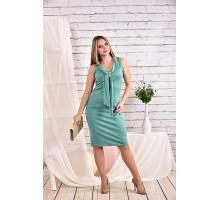 Платье шалфей 42-74 размер ККК442-0461-1