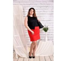 Платье черное с алым 42-74 размер ККК439-0462-1