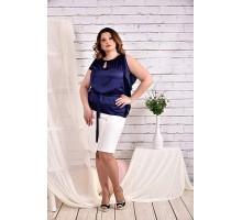 Синяя блузка 42-74 размер ККК436-0463-1