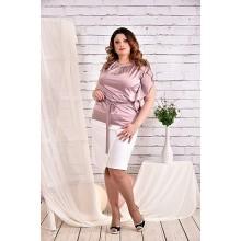 Блуза пудра 42-74 размер ККК434-0463-3
