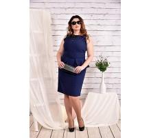Синее платье 42-74 размер ККК433-0464-1