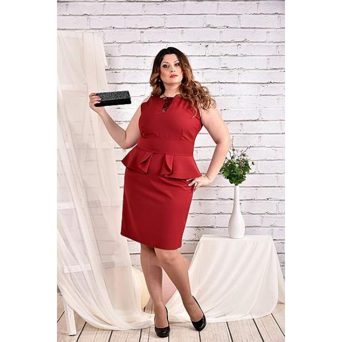 Бордовое платье 42-74 размер ККК432-0464-2
