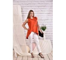 Оранжевая блузка 42-74 размер ККК428-0465-3
