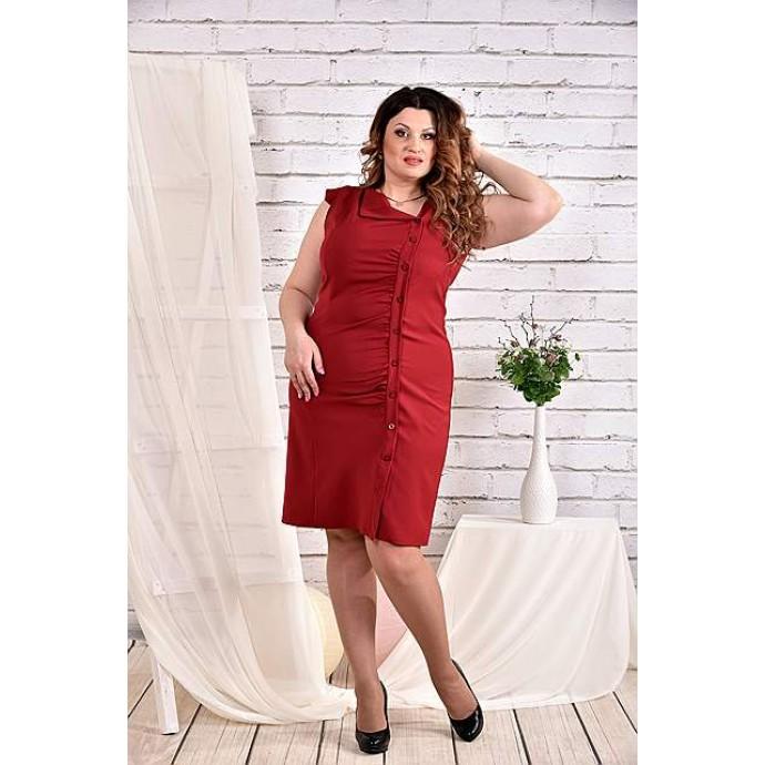 Бордовое платье 42-74 размер ККК427-0466-1