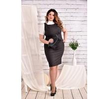 Темно-серое платье 42-74 размер ККК424-0467-1