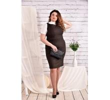 Коричневое платье 42-74 размер ККК423-0467-2