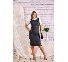 Серое платье 42-74 размер ККК422-0467-3