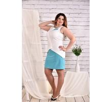 Белое с голубым платье 42-74 размер ККК47-0472-3