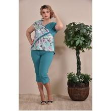 Капри женские зеленые  ККК1-012-1