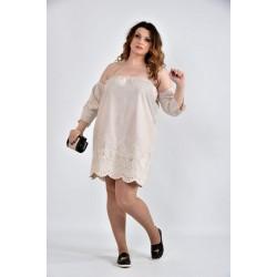 Платье бежевое 42-74 размеры ККК1013-0514-3