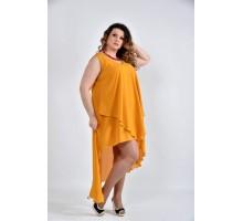 Платье горчичное 42-74 размеры ККК1012-0515-1