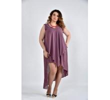Платье сливовое 42-74 размеры ККК1010-0515-3
